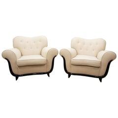 Pair of Modern Lounge Chairs by Guglielmo Ulrich, Italian, circa 1940's