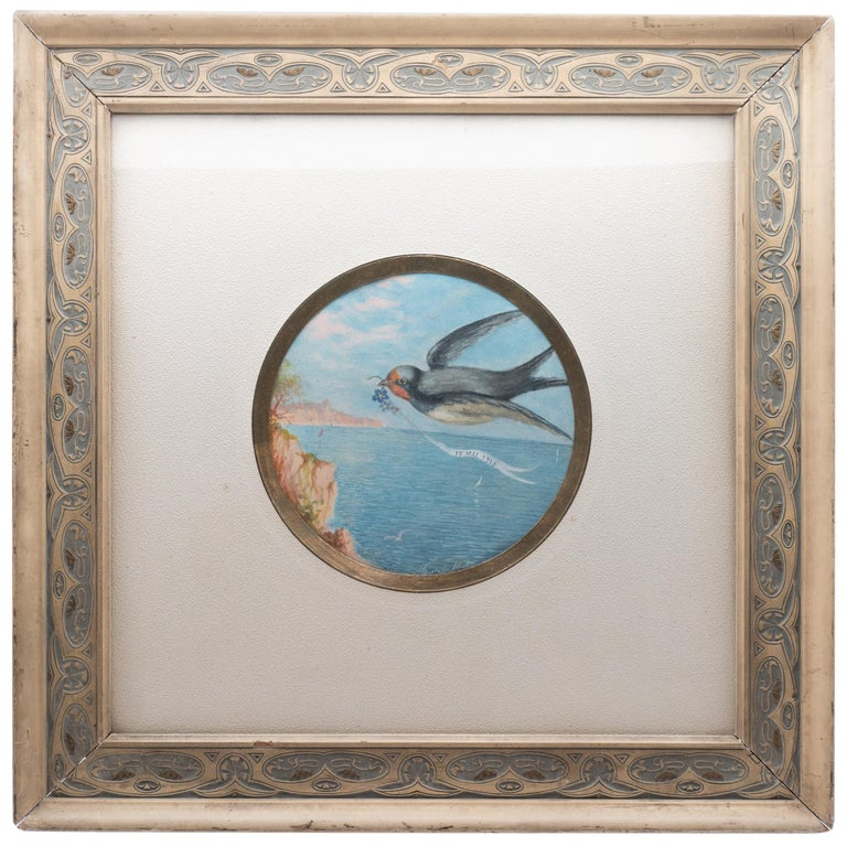 Art Nouveau Framed Flying Bird