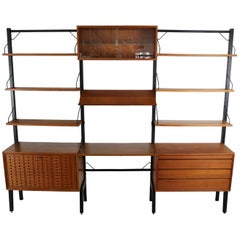 Vintage Royal System Modular free standing Wall Unit by Poul Cadovius for Cado
