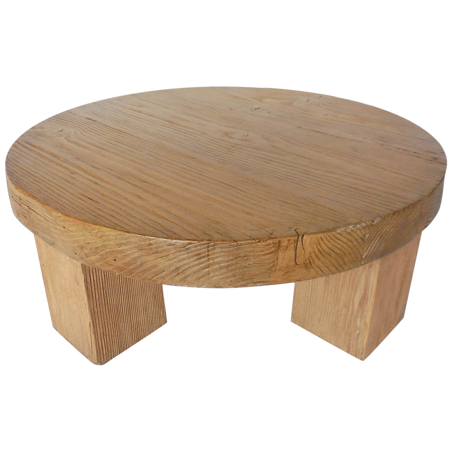 Low Round Wood Coffee Table.Reclaimed Wood Low Round Coffee Table By Dos Gallos Studio