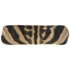Zebra Hide Bolster Pillow