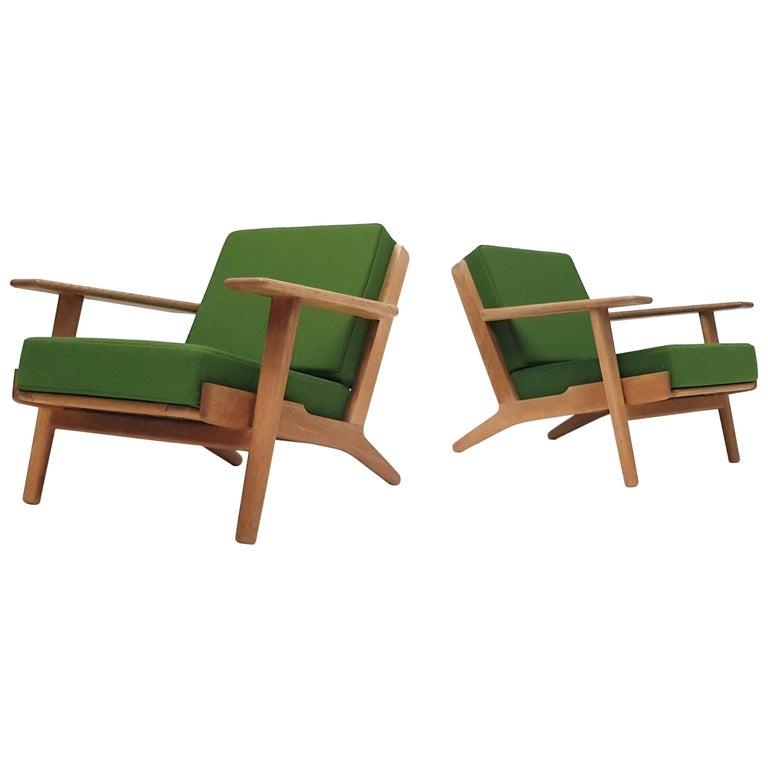 Original Pair of Vintage Hans Wegner GE290 Armchairs for GETAMA, Denmark, 1950s