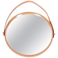 Midcentury Luxus Oak Mirror by Uno & Östen Kristiansson