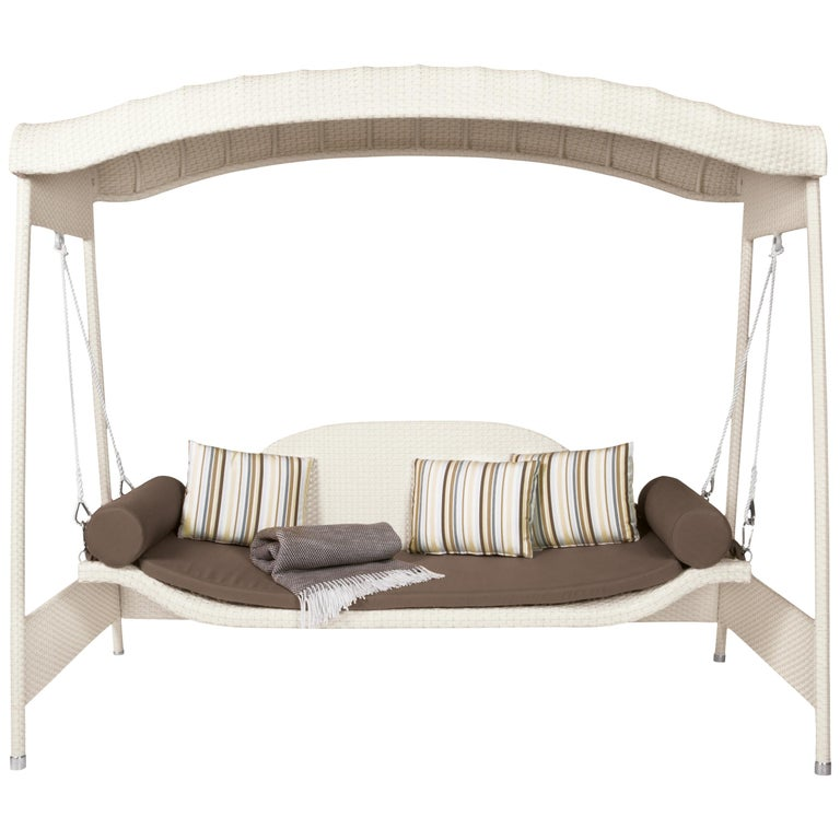 Garden Swing Sofa Contemporary Woven Outdoor For