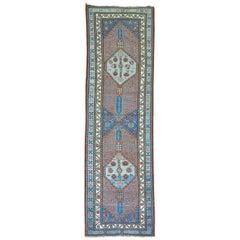 Antique Persian Tribal Serab Runner