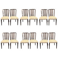Set 12 Georg Kofoed Danish Brazilian Rosewood Scandinavian Modern Dining Chairs