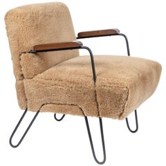 Custom-Made Midcentury Style Hairpin Chair
