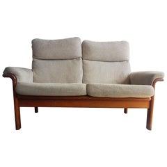 Danish Teak Two-Seat Sofa, 1970s