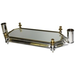 19th-20th Century Plated Surtout de Table Centerpice, Attributed to Christofle