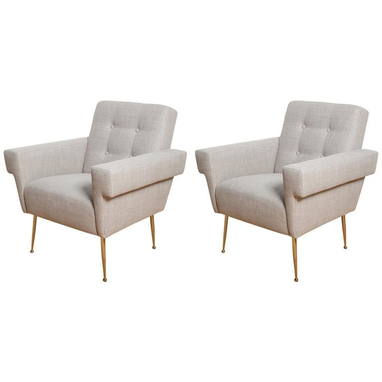Stripe's Own Custom Milano Lounge Chairs For Sale