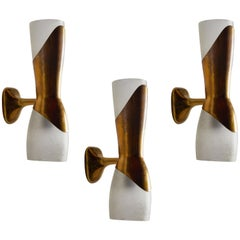 Three Sconces by Pietro Chiesa for Fontana Arte