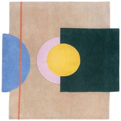 "Half Court ""Court Series"" Rug by Pieces, Modern Hand Tufted Colorful Sporty Rug"