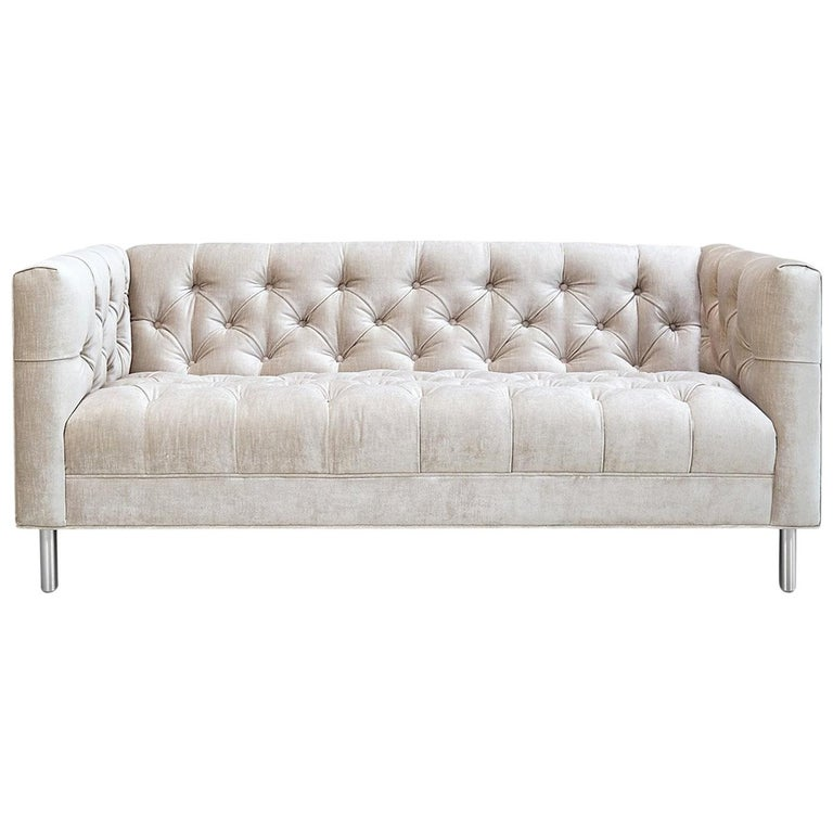 Baxter Loveseat in Pearl Velvet