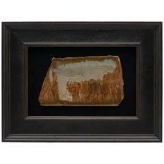 "Framed Italian Pietra Paesina ""Landscape Marble"" or ""Ruin Marble"" Specimen"