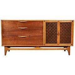 1960s Lane Furniture Basketweave Buffet