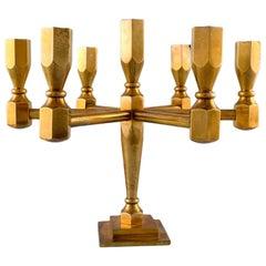 Gusum, Sweden Candlestick for Seven Lights in Brass, Swedish Design