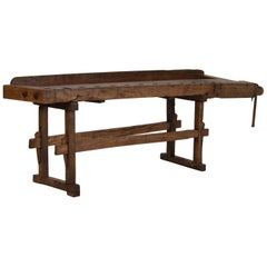 Antique Carpenter's Workbench / Console Table