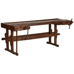 Antique Hungarian Carpenters' Workbench