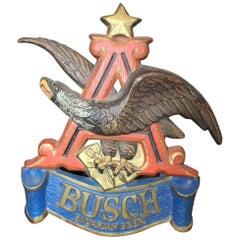 1970s Anheuser Busch Bavarian Beer Plastic Sign Eagle