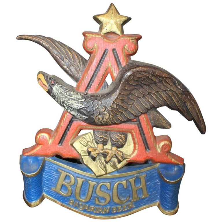 1970s Anheuser Busch Bavarian Beer Plastic Sign Eagle For Sale At
