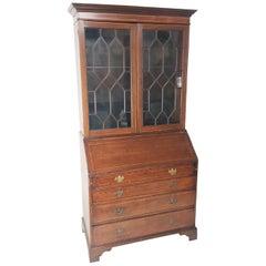 English Regency Mahogany Secretary Bookcase