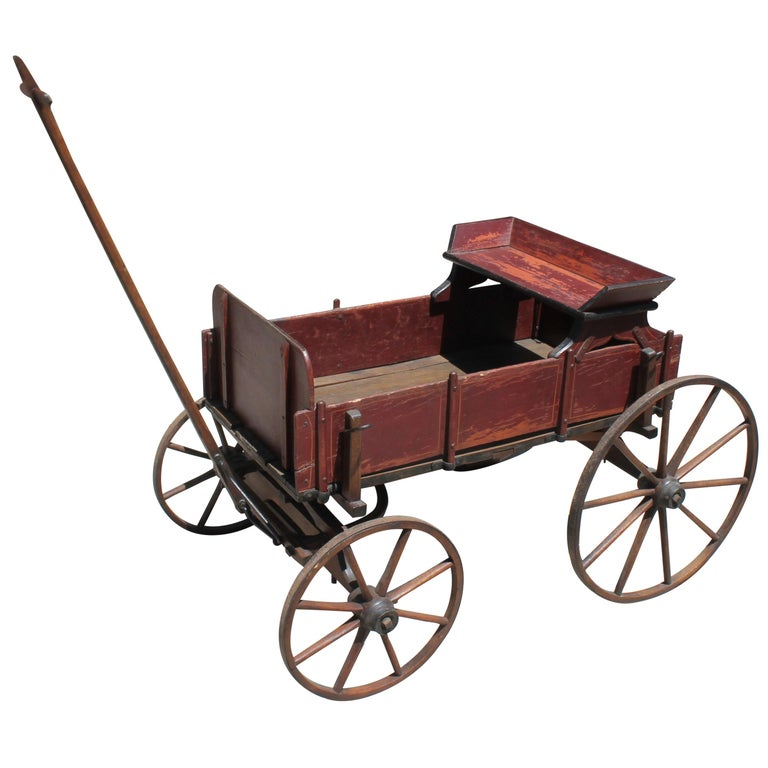 Early 19th Century Original Painted Buggy or Goats Cart