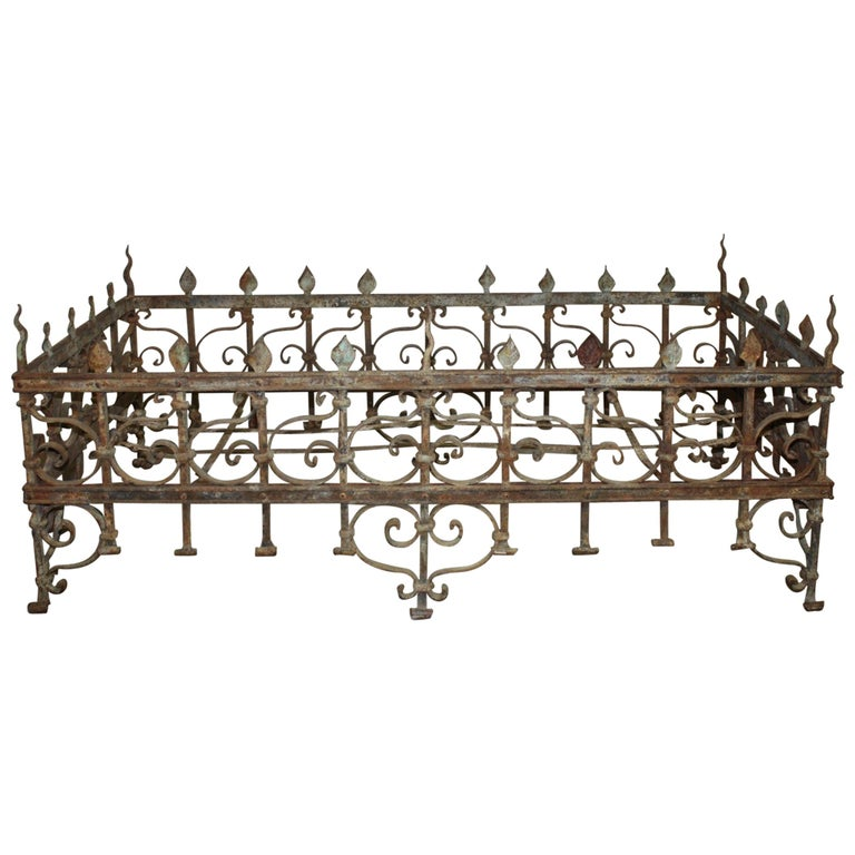 Exceptional 18th Century French Iron Planter