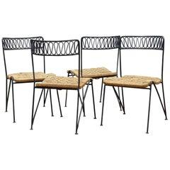 Salterini Ribbon Garden Rope Chairs Tempestini Iron Ribbon Series Patio Rush