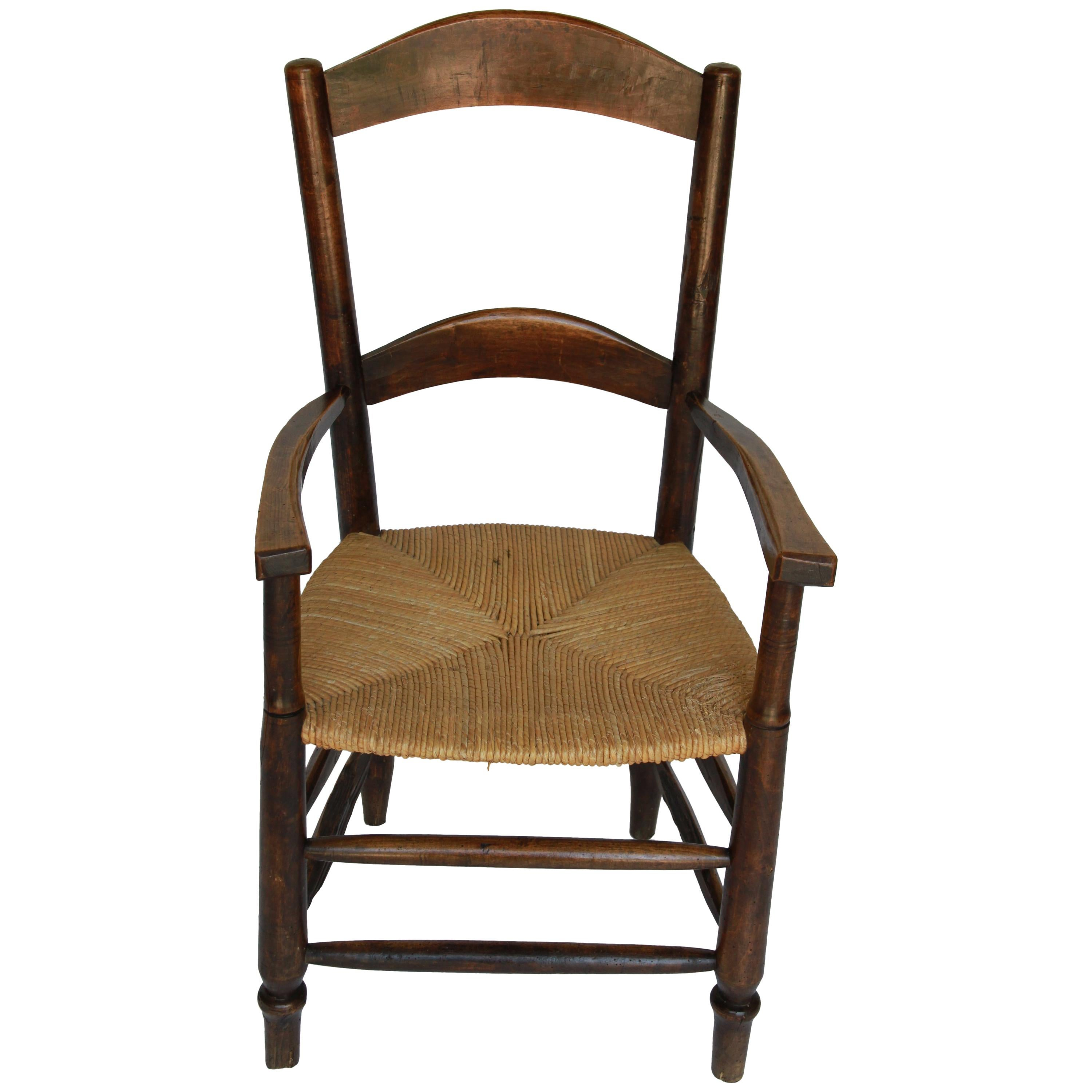 19th Century French Wood Rush Seat Chair For Sale  sc 1 st  1stDibs & 19th Century French Wood Rush Seat Chair For Sale at 1stdibs