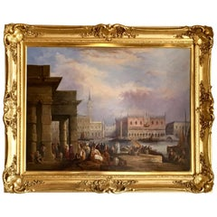"""The Doge's Palace, Venice"" Painting Oil on Canvas"