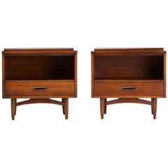 Restored Broyhill Premier Sculptra Nightstand Bedside Tables, 1960s