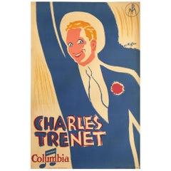"""Original Vintage Poster """"Charles Trenet"""" by C Kiffer, 1930"""