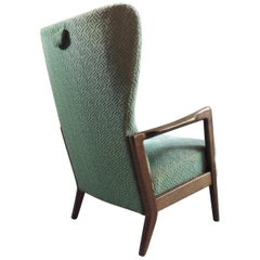 Soren Hansen Lounge Chair High Wingback by Fritz Hansen Danish, 1950s