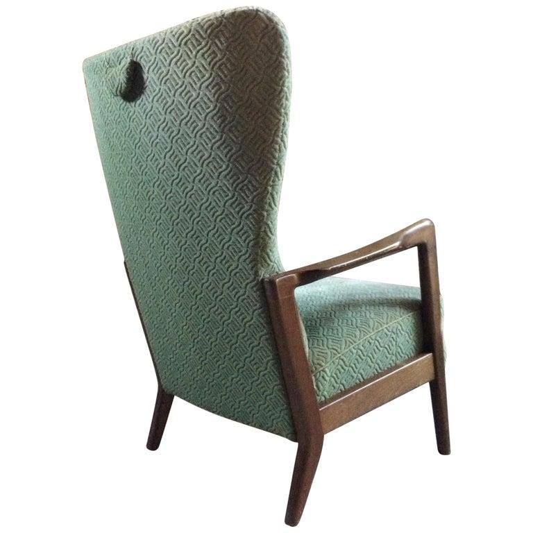 Soren Hansen Lounge Chair High Wingback by Fritz Hansen Danish, 1950s