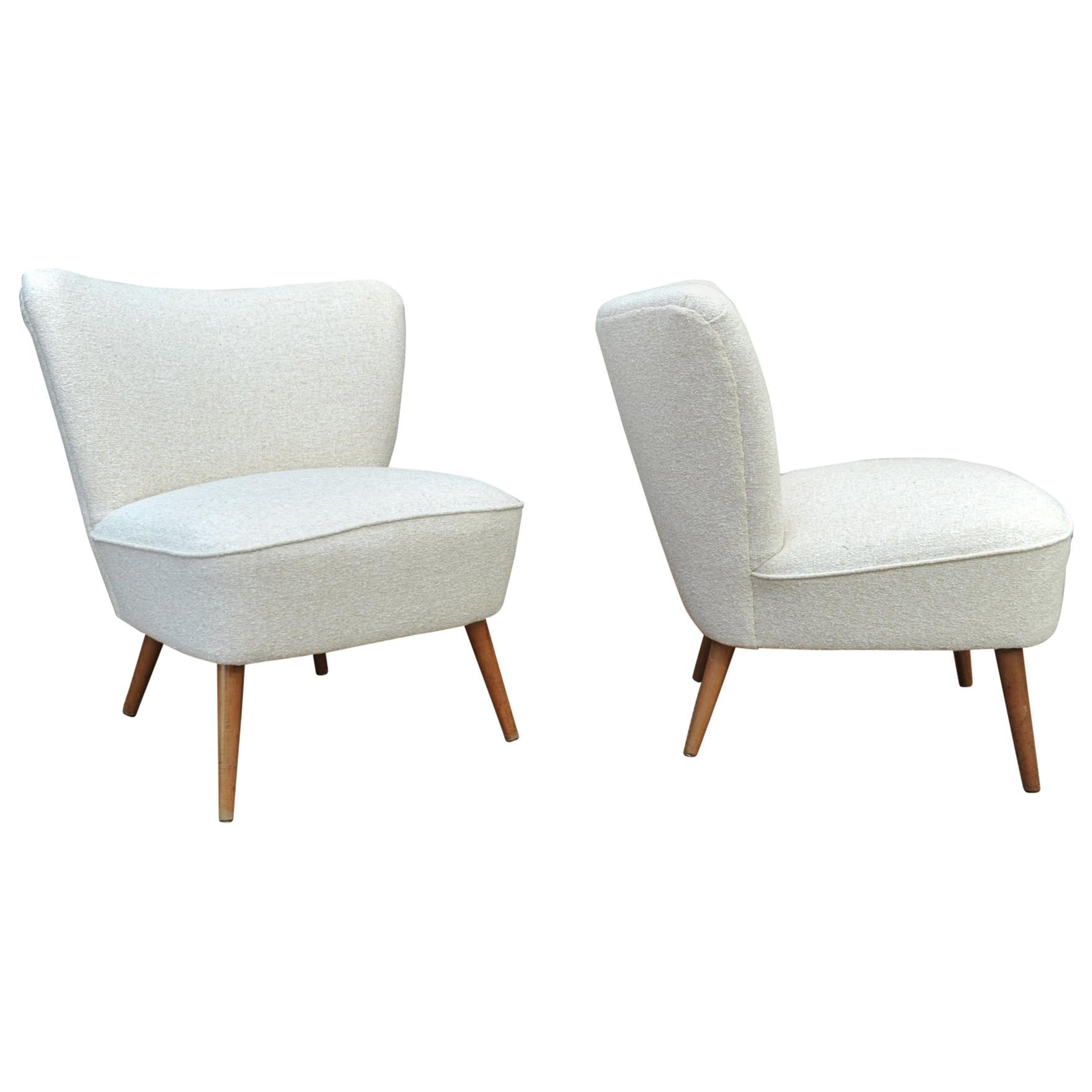 Beau Pair Of French 1950s Cocktail Chairs