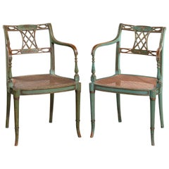 Pair of Finely Drawn Regency Period Chairs