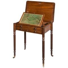 George III Period Mahogany Work / Writing Table