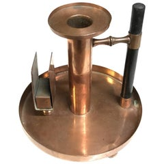 WMF, Dr C. Dresser Style of an Aesthetic Movement Copper Chamber Candlestick