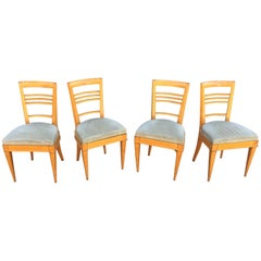 Elegant Art Deco Chairs in the Style of André Arbus, circa 1940