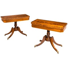 Very Good Pair of Regency Period Card Tables