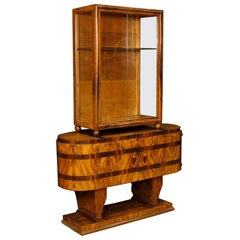 Italian Display Cabinet in Inlaid Wood in Art Deco Style from 20th Century