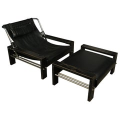 Midcentury Lounge Chair and Ottoman Designed by Sonja Wasseur, circa 1970