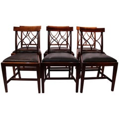 Set of Six Dining Room Chairs in the Style of Hepplewhite, 1880s