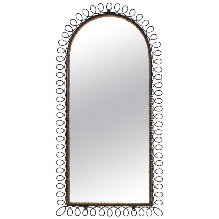 Italian 1960s Metal Mirror