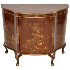 Antique Chinoiserie and Mahogany Side Cabinet