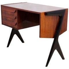 Midcentury Desk in Rosewood Italian, circa 1950