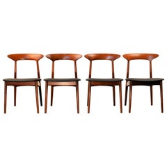 Kurt Østervig Solid Teak Dining Chairs, Set of Four
