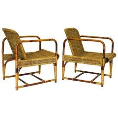 """Ratan Woven Armchair by Erich Dieckmann """"1925"""""""