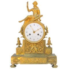 French Empire Period Ormolu Mantel Clock, Signed Bekeer à Paris, circa 1804
