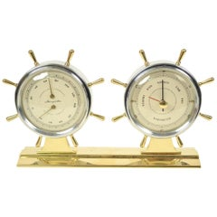 American Desk Weather Station Shaped like Two Rudders Made in 1950s